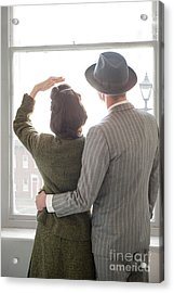 1940s Couple At The Window Acrylic Print by Lee Avison