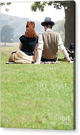 1940s Couple Sitting In The Sunshine Acrylic Print