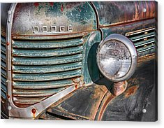 1940s Dodge Truck Front Grill And Headlight Acrylic Print