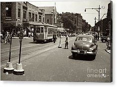 Acrylic Print featuring the photograph 1940's Inwood Trolley by Cole Thompson