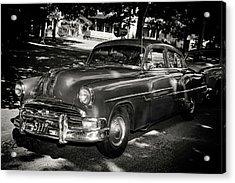 1940s Police Car Acrylic Print by Paul Seymour