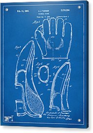 1941 Baseball Glove Patent - Blueprint Acrylic Print by Nikki Marie Smith