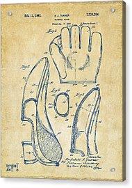 1941 Baseball Glove Patent - Vintage Acrylic Print by Nikki Marie Smith