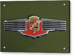 1941 Cadillac 62 Emblem Acrylic Print by Jill Reger