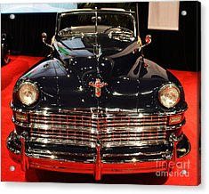 1941 Cadillac Series 62 Convertible Coupe . Front View Acrylic Print by Wingsdomain Art and Photography