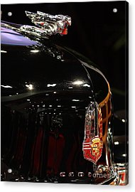 1941 Cadillac Series 62 Convertible Coupe . Hood Ornament And Badge Acrylic Print by Wingsdomain Art and Photography