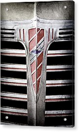 Acrylic Print featuring the photograph 1941 Chevrolet Grille Emblem -0288ac by Jill Reger
