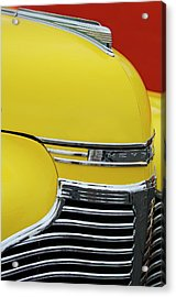 1941 Chevrolet Sedan Hood Ornament 2 Acrylic Print by Jill Reger