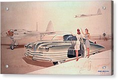 1941 Chrysler Concept Styling Rendering Gil Spear Acrylic Print by ArtFindsUSA