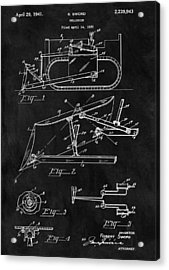 1941 Construction Bulldozer Acrylic Print by Dan Sproul