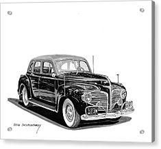 Acrylic Print featuring the painting 1941 Dodge Town Sedan by Jack Pumphrey