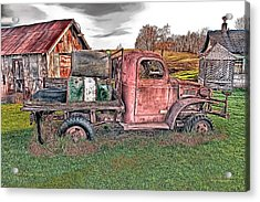 1941 Dodge Truck Acrylic Print by Mark Allen