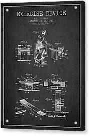 1941 Exercise Device Patent Spbb10_cg Acrylic Print