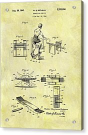 1941 Exercise Machine Patent Acrylic Print by Dan Sproul