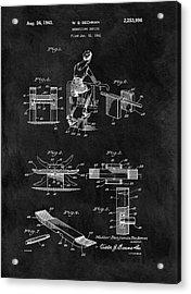 1941 Exercising Apparatus Patent Acrylic Print