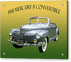 1941 Mercury Eight Convertible Acrylic Print by Jack Pumphrey