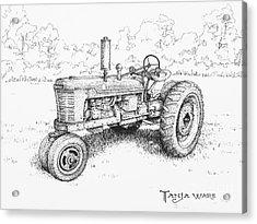 1942 Farmall Acrylic Print by Tanja Ware
