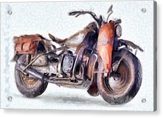 1942 Harley Davidson, Military, 750cc Acrylic Print