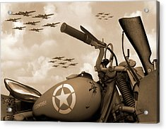 Acrylic Print featuring the photograph 1942 Indian 841 - B-17 Flying Fortress - H by Mike McGlothlen