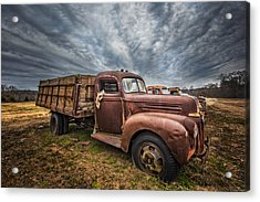 1942 Old Ford Truck Acrylic Print by Debra and Dave Vanderlaan