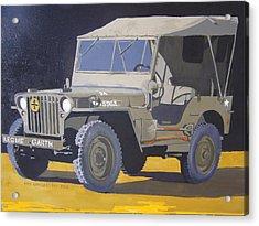 1942 Us Army Willys Jeep Acrylic Print