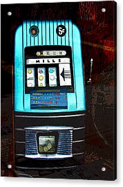 1945 Mills High Top 5 Cent Nickel Slot Machine Acrylic Print