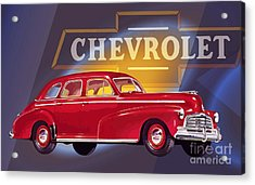 1946 Chevrolet Fleetmaster Sport Sedan Acrylic Print by GabeZ Art