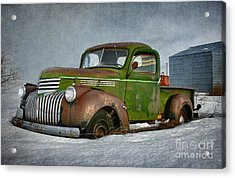 1946 Chevy Truck Acrylic Print by Beve Brown-Clark Photography