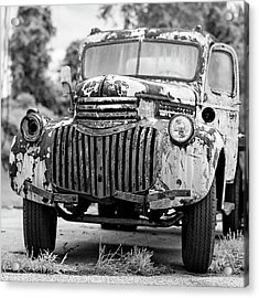 1946 Chevy Work Truck Front Acrylic Print by Jon Woodhams