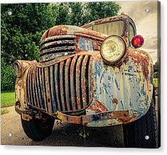 1946 Chevy Work Truck Acrylic Print by Jon Woodhams