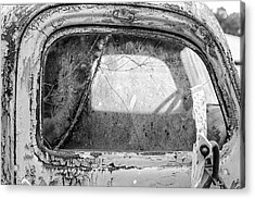 1946 Chevy Work Truck Passenger Window Acrylic Print by Jon Woodhams