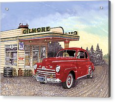 1946 Ford Deluxe Coupe Acrylic Print by Jack Pumphrey