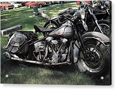 Acrylic Print featuring the photograph 1946 Harley Davidson by Kae Cheatham