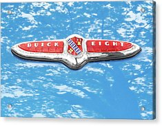 1947 Buick Eight Hood Emblem Acrylic Print by Jim Hughes