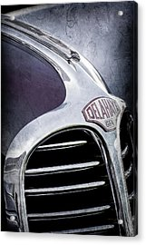 Acrylic Print featuring the photograph 1947 Delahaye Emblem -1477ac by Jill Reger