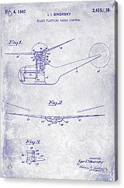 1947 Helicopter Patent Blueprint Acrylic Print