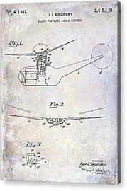 1947 Helicopter Patent Acrylic Print by Jon Neidert
