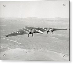 Acrylic Print featuring the photograph 1947 Northrop Flying Wing by Historic Image