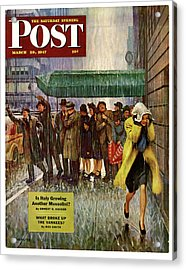 1947 Saturday Evening Post Magazine Cover Acrylic Print