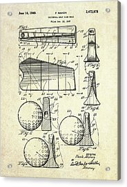 1947 Universal Golf Head Patent Art Acrylic Print by Gary Bodnar