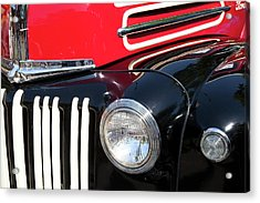 Acrylic Print featuring the photograph 1947 Vintage Ford Pickup Truck by Theresa Tahara