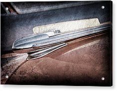 Acrylic Print featuring the photograph 1948 Chevrolet Hood Ornament -0587ac by Jill Reger