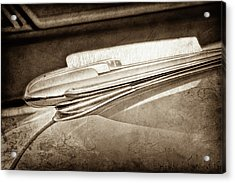 Acrylic Print featuring the photograph 1948 Chevrolet Hood Ornament -0587s by Jill Reger