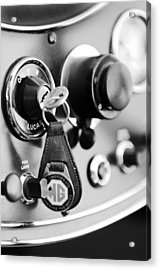 1948 Mg Tc Key Ring Black And White Acrylic Print by Jill Reger