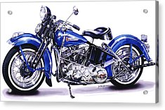 1948 Panhead Acrylic Print by Jack Knight