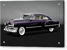 Acrylic Print featuring the photograph 1949 Cadillac Two Door Sedan  -  1949caddy2drsedangry172173 by Frank J Benz