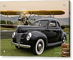 1949 Ford Coupe, Boeing - Stearman Biplane, The Most Interesting Man In The World ' Opening Scene  Acrylic Print