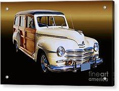 1949 Plymouth Woodie Wagon Acrylic Print