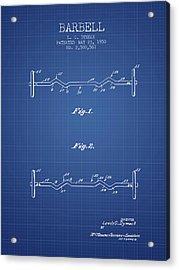 1950 Barbell Patent Spbb04_bp Acrylic Print