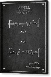 1950 Barbell Patent Spbb04_cg Acrylic Print